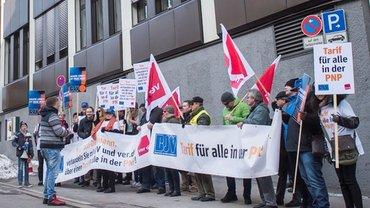 Demo vor der PNP