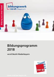 Bildungsprogramm 2018 des ver.di Bezirk Niederbayern