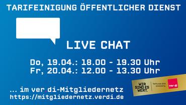 Live-Chat: Fragen zur Tarifeinigung?