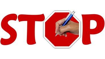 Keine Unterschrift Stop Vertrag unterschreiben Widerstand